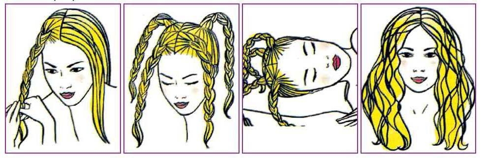 Как сделать кудри на мокрые волосы