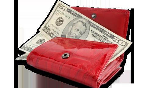 Красный кошелек отпугивает деньги