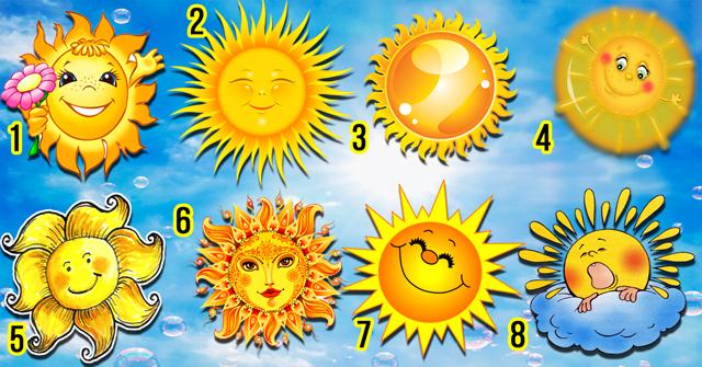 Выберите солнышко которое светит только вам и узнайте какая вы на самом деле