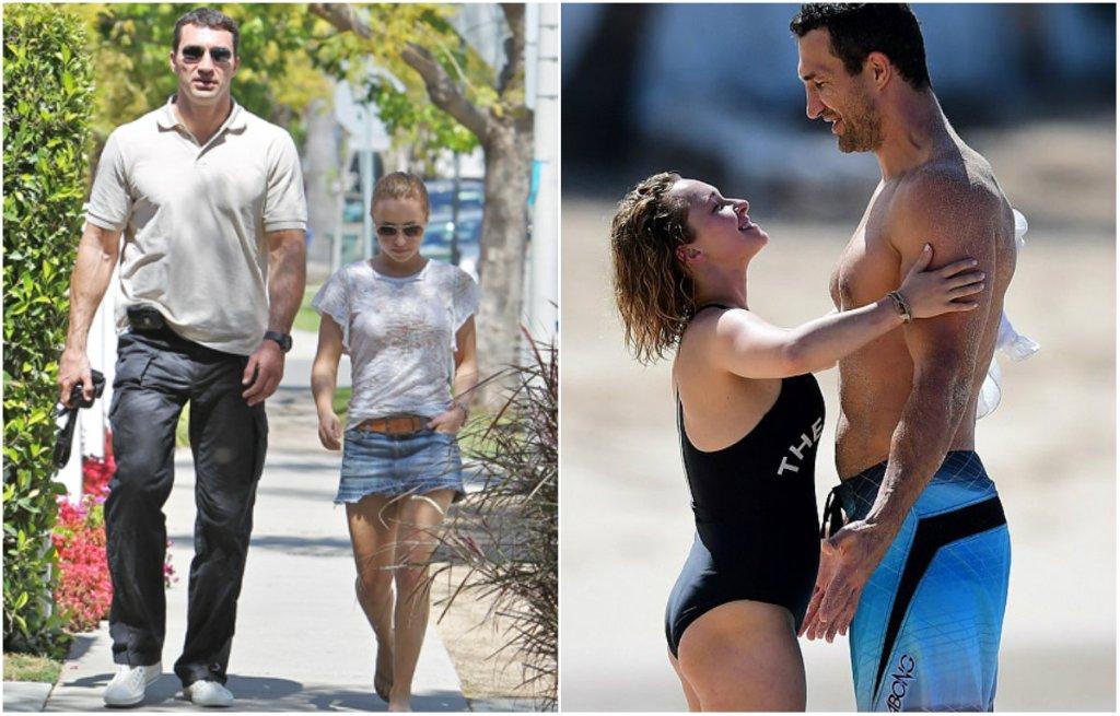 Внушительный Кличко и миниатюрная Панеттьери продолжают пляжный отдых — фото