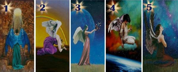 Выберите карту Ангела, чтобы открыть сообщение для своей души