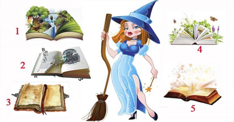 Добрая волшебница даст совет на будущее! Только выберите книгу судьбы!