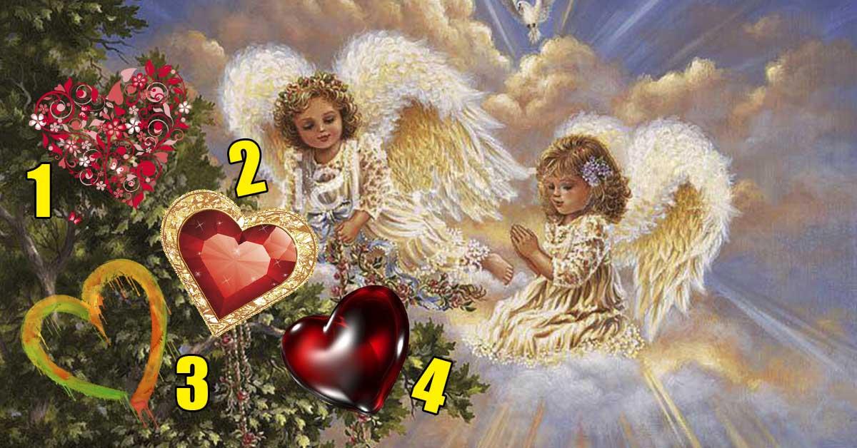 Эти милые ангелочки принесли Вам послание! Выберите одно сердце и получите сюрприз!