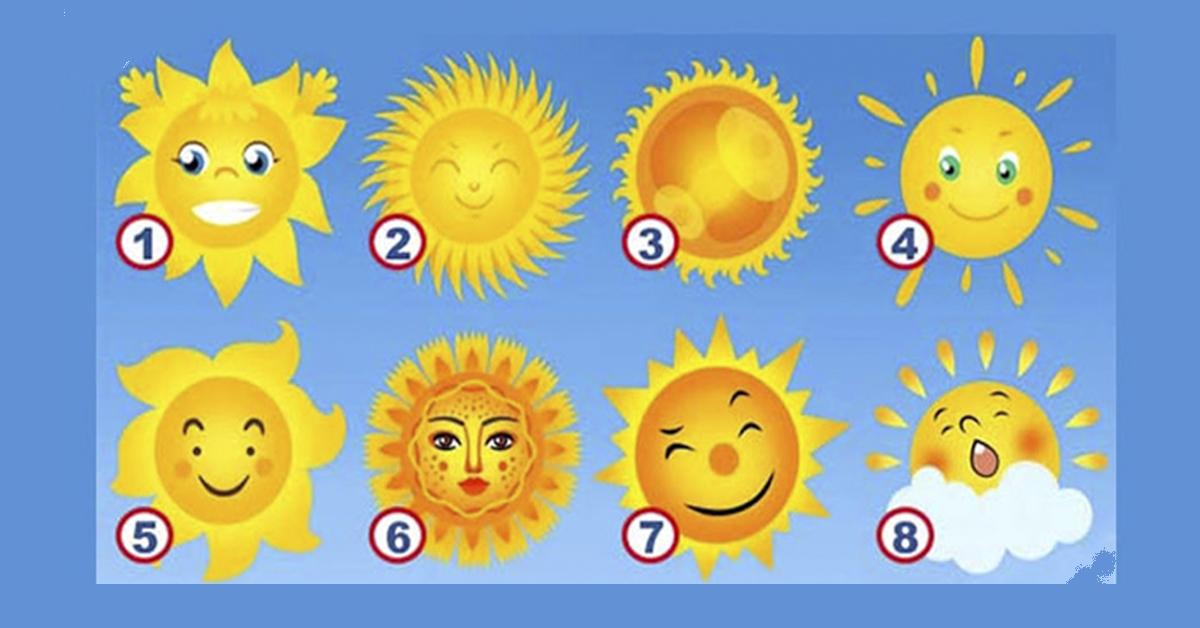 Самый яркий тест! Выберите солнышко и раскройте свою лучшую черту!