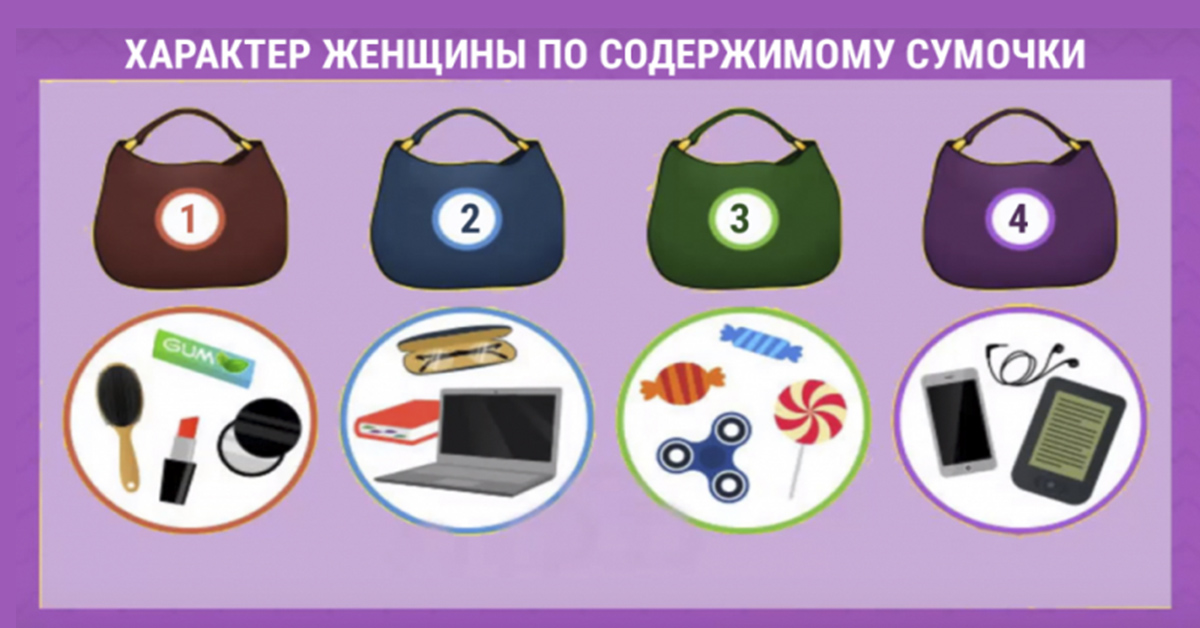 Хотите узнать, какая Вы женщина? Просто выберите одну сумочку и смотрите…