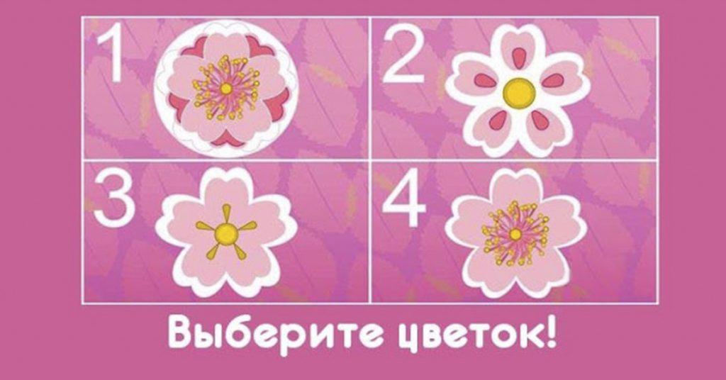 Какие красивые цветочки! Выберите один и узнаете, какой Вы человек!