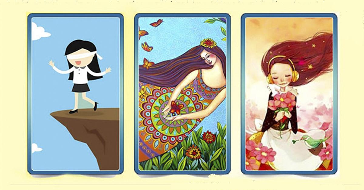Чудо-тест! Выберите одну из карт с девушками и получите свое Волшебное Послание!