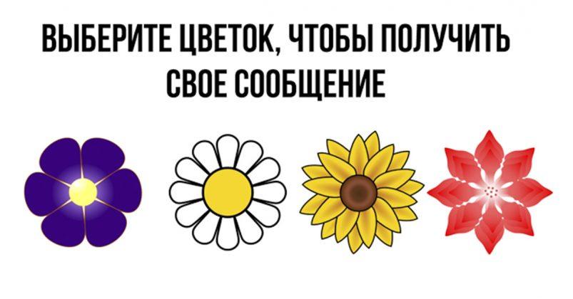 Выберите цветок, чтобы получить свое волшебное сообщение! Просто невероятно!