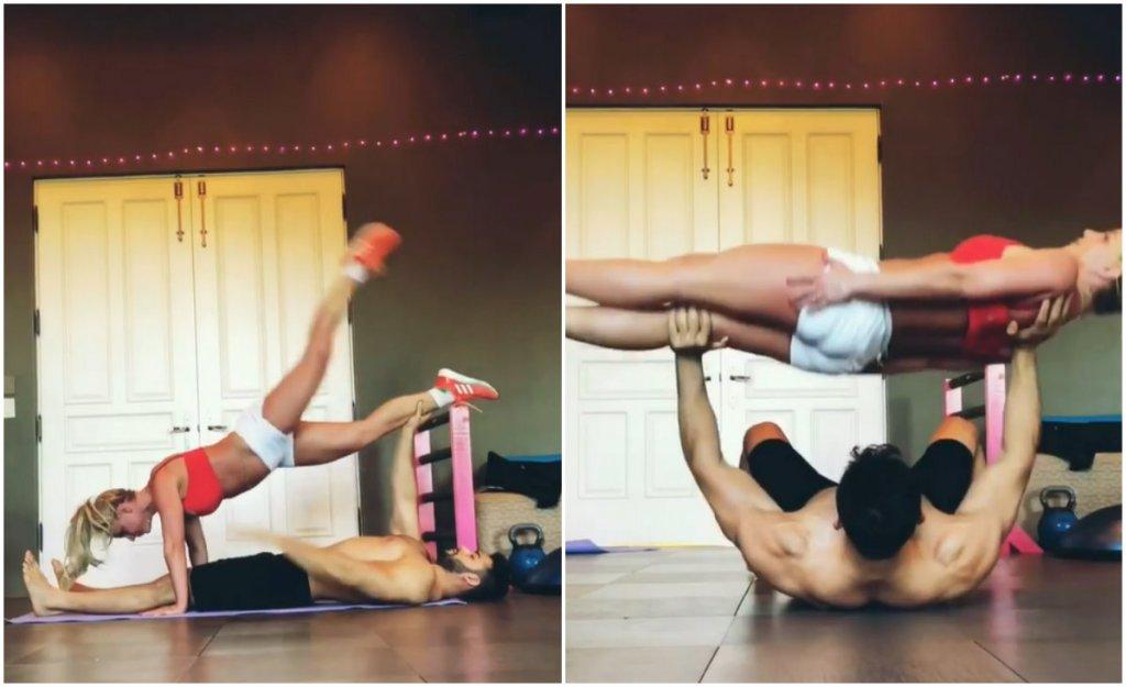 Бритни Спирс впечатлила парной тренировкой с бойфрендом — видео