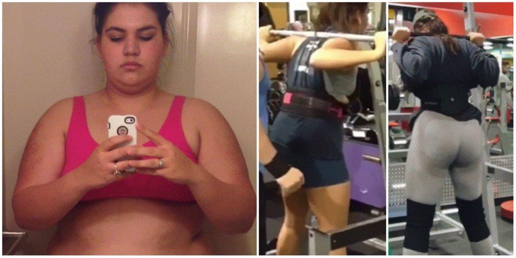 Девушка весом 140 кг показала, как невероятно изменилась спустя 3 года тренировок